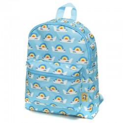 Petit Monkey - Plecak dla Przedszkolaka AIRPLANES BLUE