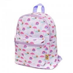 Petit Monkey - Plecak dla Przedszkolaka RAINY DAYS LILAC