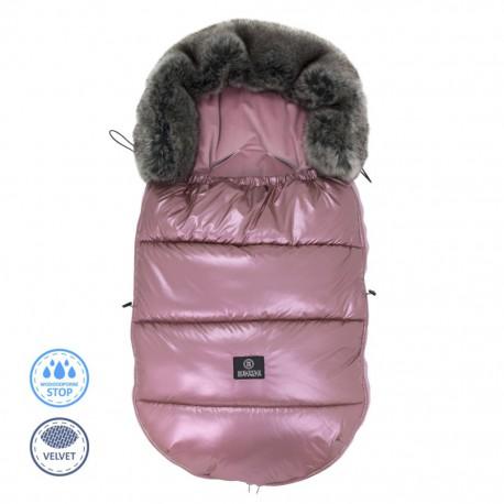 Ciepły śpiworek do wózka 0-18 miesięcy - Metalic Pink