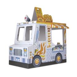 Kartonowy wóz z jedzeniem z kartonu