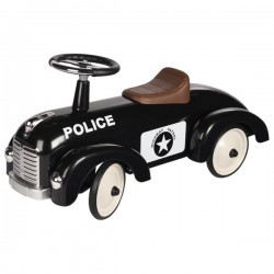 Jeździk czarny retro Policja