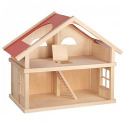 Domek dla lalek dwupiętrowy