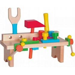 Warsztat drewniany dla chłopca mini z narzędziami