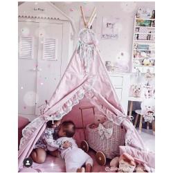 Namiot tipi dla dziecka Pinklove - zestaw