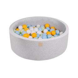 Suchy basen dla dziecka 90x30 cm + 200 piłek - jasnoszary