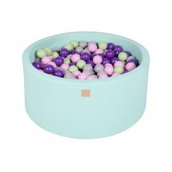 Suchy basen dla dziecka 90x40 cm + 200 piłek - miętowy