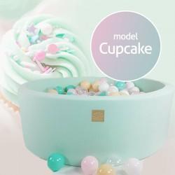 Suchy basen dla dziecka 90x40 cm + 250 piłek - Cupcake