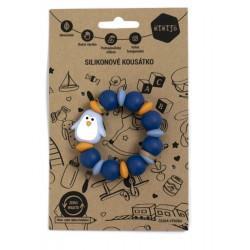 Gryzak z niebieskim pingwinkiem