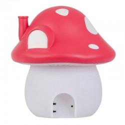 A Little Lovely Company - Duża Lampka Czerwony Grzybkowy Domek Wróżek - Leśna Kraina