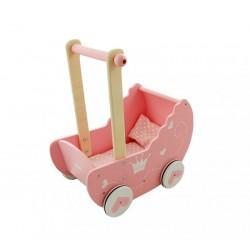 Drewniany wózek dla lalek - uszkodzone opakowanie