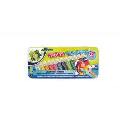 Farba tempera 12 kolorów w metalowym pudełku