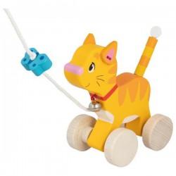 Kotek na sznurku do ciągnięcia