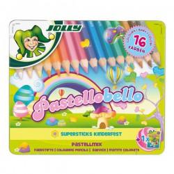 Kredki Pastellobello 16 kolorów w metalowym pudełku