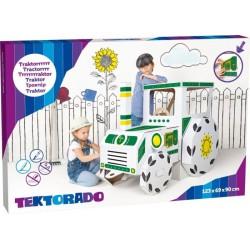 Zabawka z kartonu - Traktor duży kartonowy -zestaw 4 sztuk