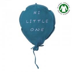 Hi Little One - Poduszka dekoracyjna z organicznego oddychającego BIO muślinu GOTS BALOON EMERALD