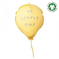 Hi Little One - Poduszka dekoracyjna z organicznego oddychającego BIO muślinu GOTS BALOON PINEAPPLE