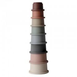 Mushie - Stacking Tower - wieża z kubeczków