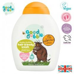 Good Bubble Gruffalo Organiczny żel wegański do mycia włosów i ciała Noworodka i Niemowlaka Prickly Pear 250 ml