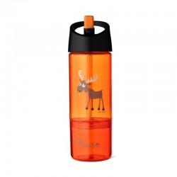 Carl Oscar Kids Bottle 2in1 Bidon z pojemnikiem na przekąski 2w1 Orange - Moose