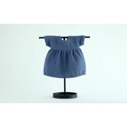 Sukienka muślinowa dla lalki 38 Navy Blue