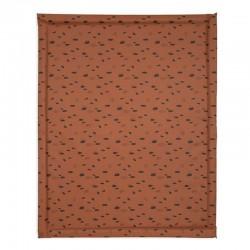 Jollein - Mata wodoodporna do łóżeczka 75 x 95 cm Spot CARAMEL