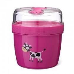 Carl Oscar- N'ice Cup™ L Pojemnik śniadaniowy z wkładem chłodzący Purple - Cow