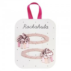 Rockahula Kids - spinki do włosów Rainbow Cloud Glitter Pink