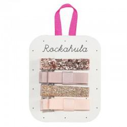 Rockahula Kids - spinki do włosów Sparkle Bar Rose Gold