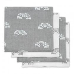 Jollein - 4 pieluszki niemowlęce Hydrophlic 70 x 70 cm Rainbow Grey