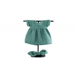 Zestaw: sukienka i opaska dla lalki Frosty Green ROZMIAR 38