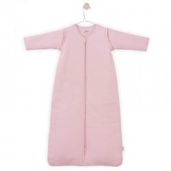 Jollein - Śpiworek niemowlęcy całoroczny 4 pory roku z odpinanymi rękawami Tiny Waffle Soft PINK 110 cm