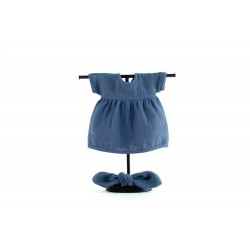 Zestaw: sukienka i opaska dla lalki Navy Blue ROZMIAR 38