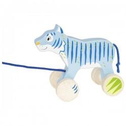 Błękitny tygrys na sznureczku