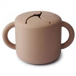 Mushie - Kubek niewysypek na przekąski SNACK CUP Natural