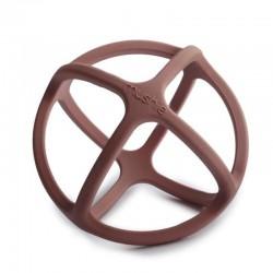 Mushie - Gryzak sensoryczny 3D silikonowy BALL Woodchuck