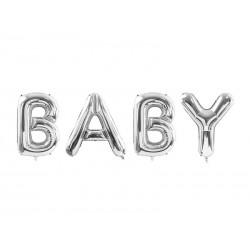 Balon foliowy Baby, 262x86cm, srebrny