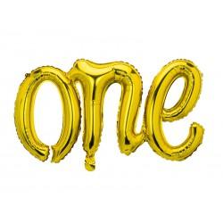 Balon foliowy One, 66x37cm, złoty