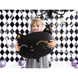 Balon foliowy Kotek, 48x36cm, czarny (1 karton / 50 szt.)