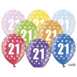 Balony 30cm, 21st Birthday, Metallic Mix (1 op. / 50 szt.)
