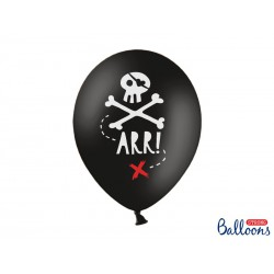 Balony 30cm, Piraci, Pastel Black (1 op. / 50 szt.)