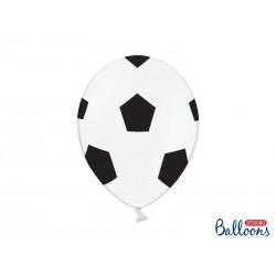 Balony 30 cm, Piłka, Pure White (1 op. / 6 szt.)