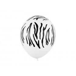 Balony 30 cm, Zebra, Pastel Pure White (1 op. / 50 szt.)