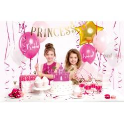 Zestaw dekoracji party - Princess (1 karton / 6 op.)