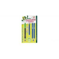 Zmywalny 4-kolorowy długopis z akcesoriami