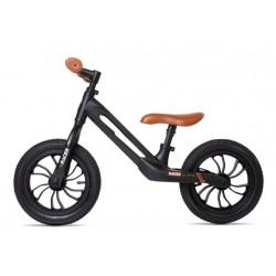Rowerek biegowy RACER czarny z brązowym siedzeniem