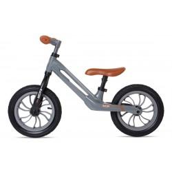 Rowerek biegowy RACER szary z brązowym siedzeniem