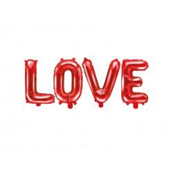 Balon foliowy Love, 140x35cm, czerwony
