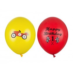 Balony 30 cm, Happy Birthday, mix (1 op. / 50 szt.)