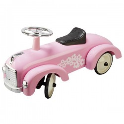 Jeździk retro różowy