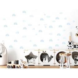 Naklejka na ścianę - Mini tęcze - niebieska